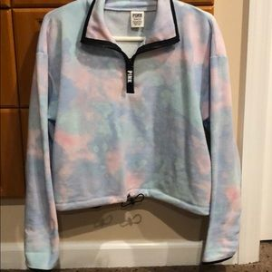 Cropped tyedye pullover